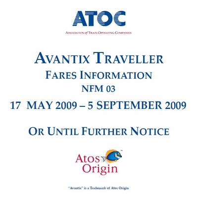 National Rail Fares CD-ROM (NFM 03) Effective from 17 May 2009 to 5 September 2009 (CD-ROM)