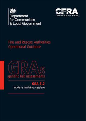 Incidents involving acetylene - Generic risk assessment GRA 5.2