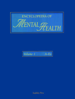 Encyclopedia of Mental Health, Three-Volume Set
