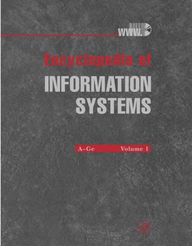 Encyclopedia of Information Systems (Hardback)