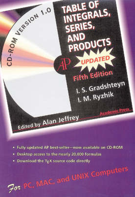 Table of Integrals, Series, and Products (CD-ROM)