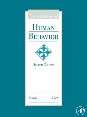 Encyclopedia of Human Behavior - Encyclopedia of Human Behavior, Four-Volume Set