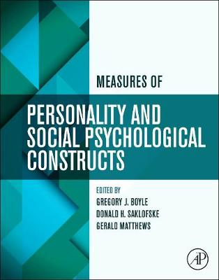 Measures of Personality and Social Psychological Constructs (Paperback)