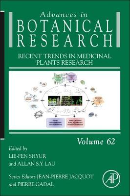 Recent Trends in Medicinal Plants Research: Volume 62 - Advances in Botanical Research (Hardback)