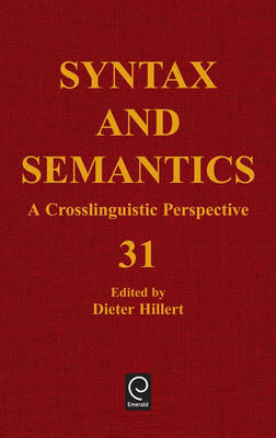 Sentence Processing: A Crosslinguistic Perspective - Syntax and Semantics 31 (Hardback)