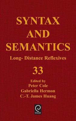 Long Distance Reflexives - Syntax and Semantics 33 (Hardback)