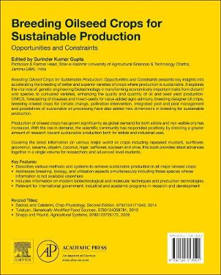 Breeding Oilseed Crops for Sustainable Production: Opportunities and Constraints (Hardback)