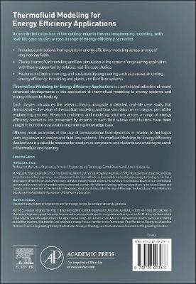 Thermofluid Modeling for Energy Efficiency Applications (Hardback)