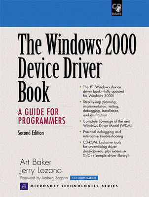 The Windows 2000 Device Driver Book: A Guide for Programmers