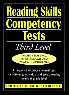 Ready-to-Use Reading Skills Competetency Tests: Third Grade Reading Level, Vol. 4 (Spiral bound)