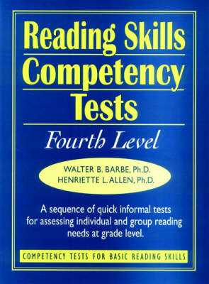 Ready-to-Use Reading Skills Competency Tests: Fourth Grade Reading Level, Vol. 5 (Spiral bound)