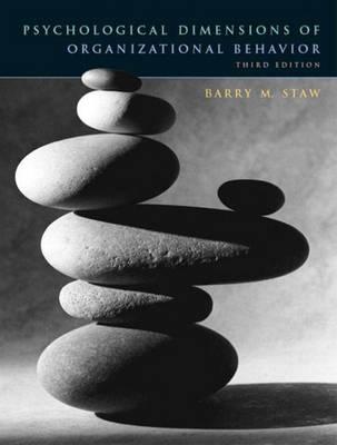 Psychological Dimensions of Organizational Behavior (Paperback)