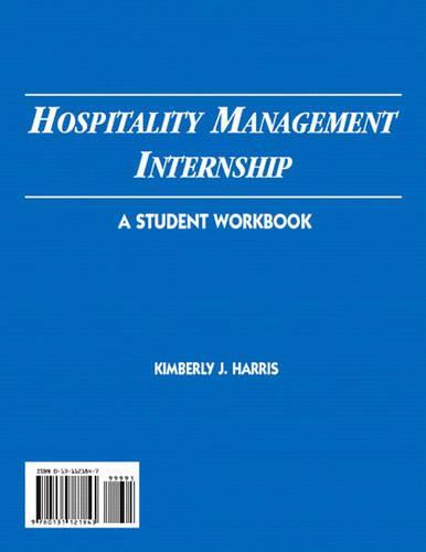 Hospitality Management Internship: A Student Workbook