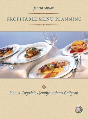 Profitable Menu Planning: United States Edition (Hardback)