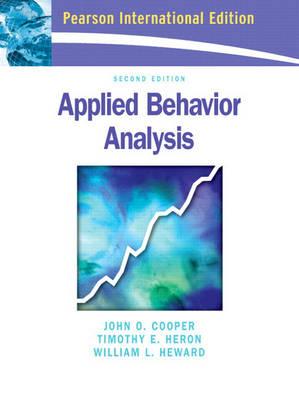 Applied Behavior Analysis (Paperback)