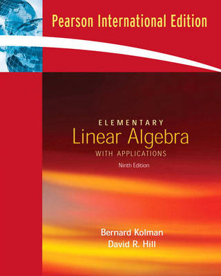 Elementary Linear Algebra with Applications (Paperback)