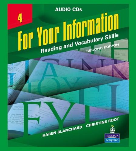 For Your Information 4: Reading and Vocabulary Skills (CD-Audio)