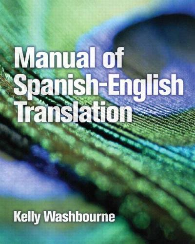 Manual of Spanish-English Translation (Paperback)