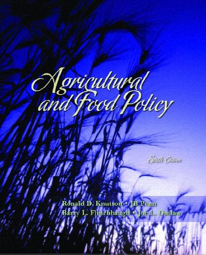 Agricultural and Food Policy (Paperback)
