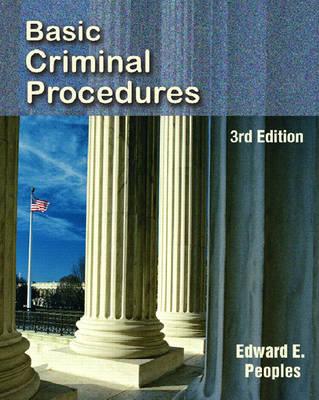 Basic Criminal Procedures (Paperback)