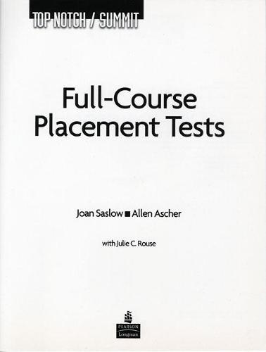 Top Notch / Summit Full Course Placement Tests with Audio CD (Paperback)