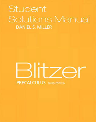 Precalculus: Student Solutions Manual (Paperback)