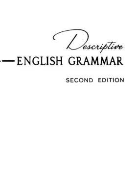 Descriptive English Grammar (Paperback)