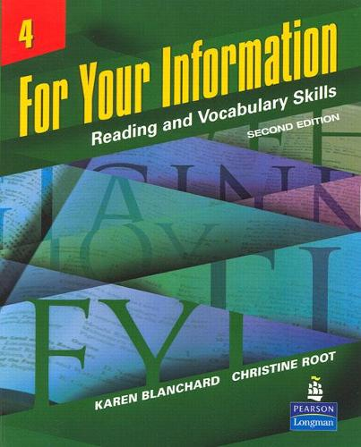 For Your Information 4: Reading and Vocabulary Skills (Paperback)