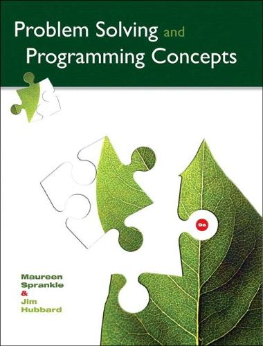Problem Solving and Programming Concepts (Paperback)