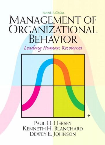 Management of Organizational Behavior: United States Edition (Hardback)