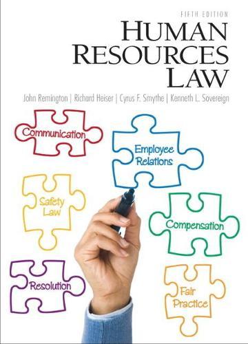 Human Resources Law (Hardback)