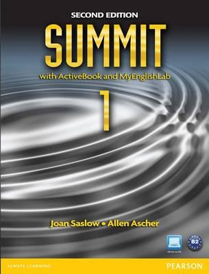 Summit 1 with ActiveBook and MyEnglishLab (Paperback)