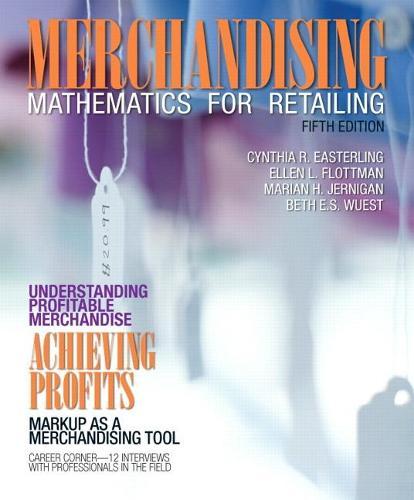 Merchandising Mathematics for Retailing (Paperback)