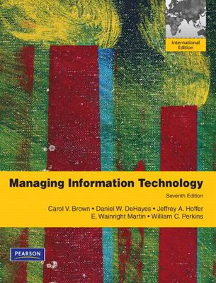 Managing Information Technology (Paperback)