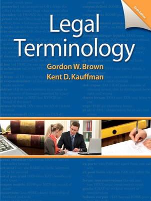 Legal Terminology (Spiral bound)