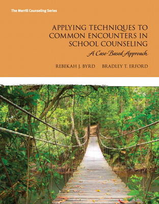 Applying Techniques to Common Encounters in School Counseling: A Case-Based Approach (Paperback)