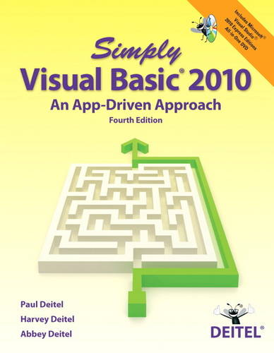 Simply Visual Basic 2010: An App-driven Approach (Paperback)