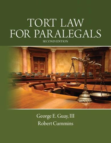 Tort Law for Paralegals (Paperback)