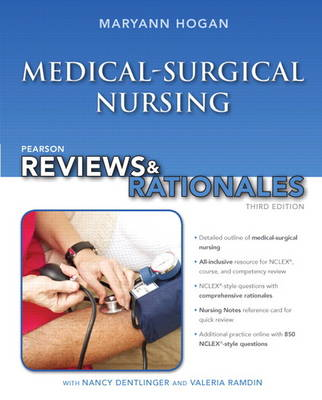 "Pearson Reviews & Rationales: Medical-Surgical Nursing with ""Nursing Reviews & Rationales"" (Paperback)"
