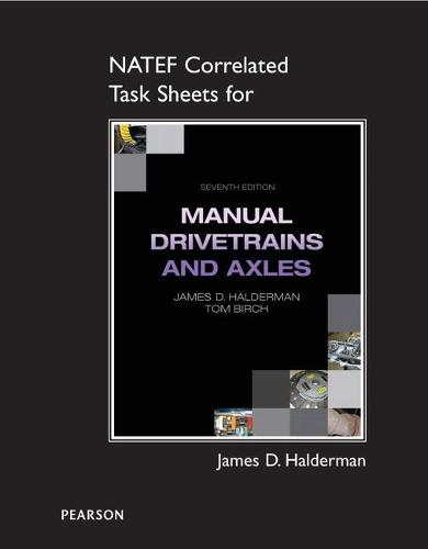 NATEF Correlated Task Sheets for Manual Drivetrain and Axles (Paperback)