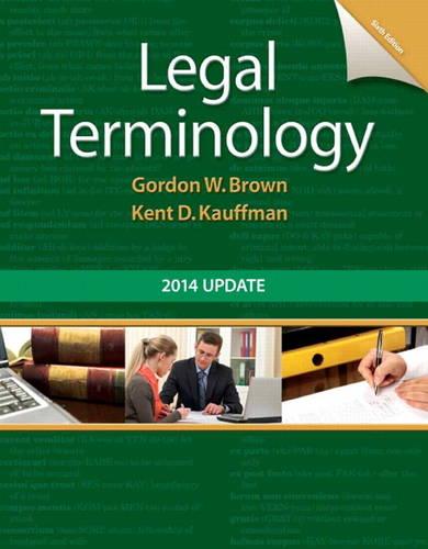 Legal Terminology: 2014 Update (Spiral bound)