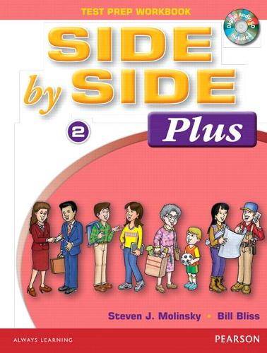 Side By Side Plus 2 Test Prep Workbook with CD (Paperback)