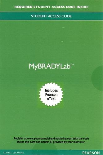MyBRADYLab with Pearson eText -- Access Card -- for Advanced EMT: A Clinical Reasoning Approach (Digital product license key)