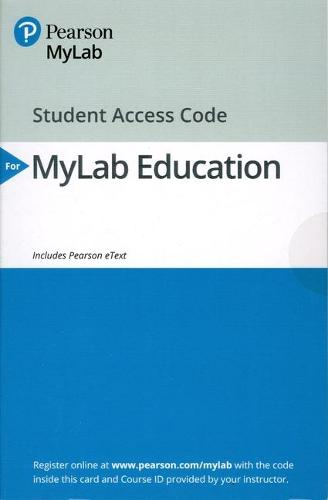 MyLab Education with Enhanced Pearson eText -- Access Card -- for Classroom Assessment: Principles and Practice that Enhance Student Learning and Motivation (Digital product license key)