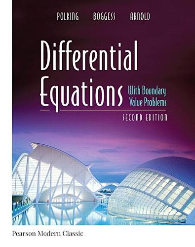 Cover Differential Equations with Boundary Value Problems  (Paperback)