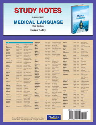 Study Notes for Medical Language (Paperback)