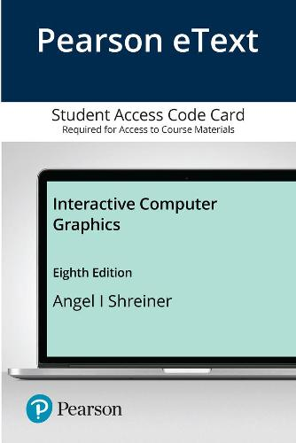 Pearson eText Interactive Computer Graphics -- Access Card (Digital product license key)
