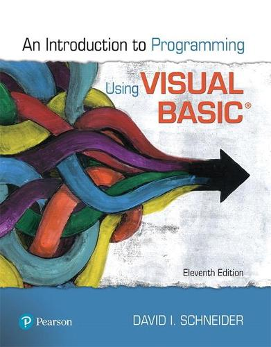 Introduction to Programming Using Visual Basic (Paperback)