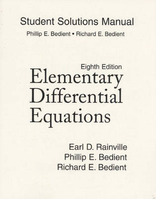 Student Solutions Manual for Elementary Differential Equations (Paperback)