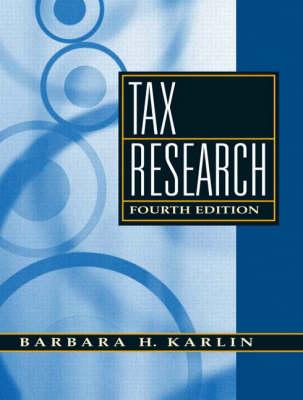 Tax Research (Hardback)